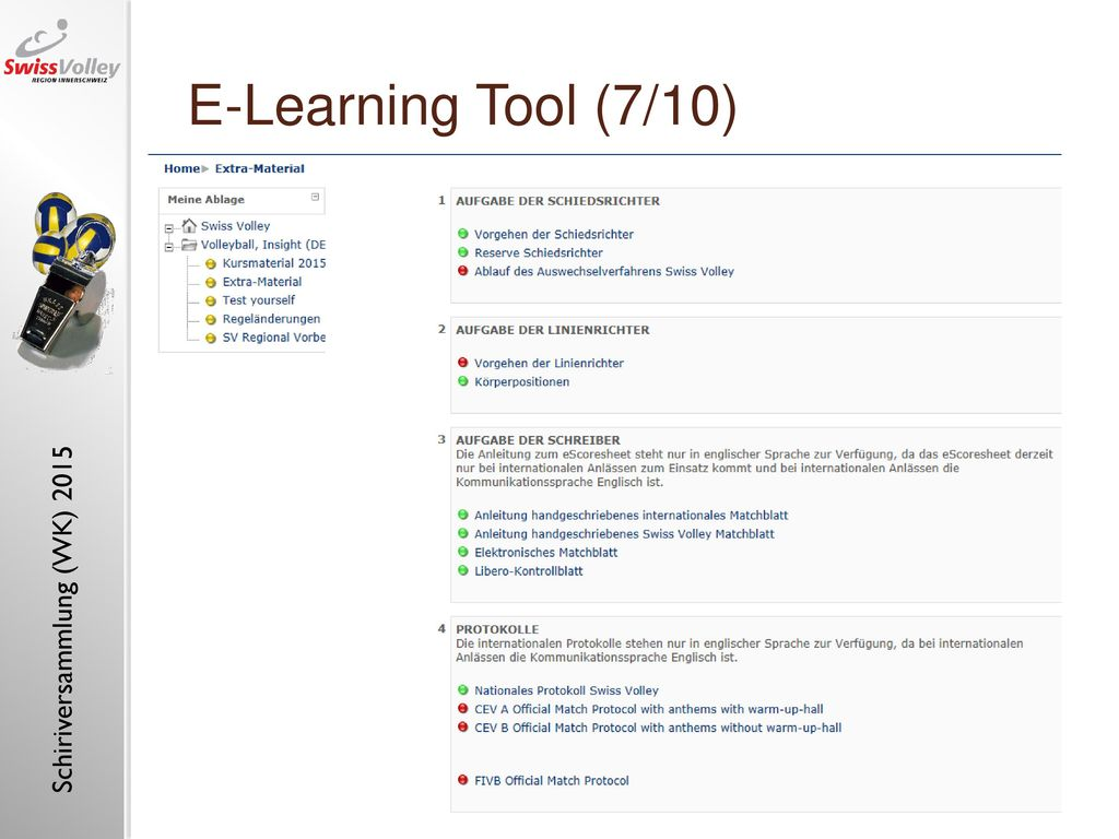 "E-Learning Tool (7/10) E-learning tool ""referee, insight (1)"