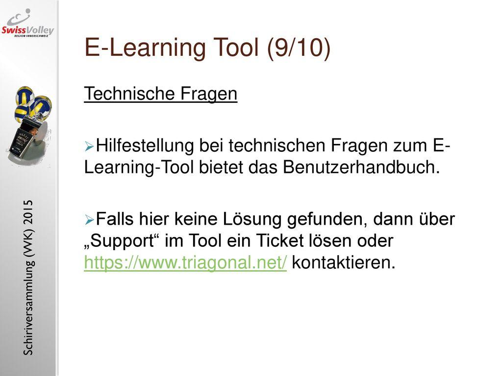 E-Learning Tool (9/10) Technische Fragen