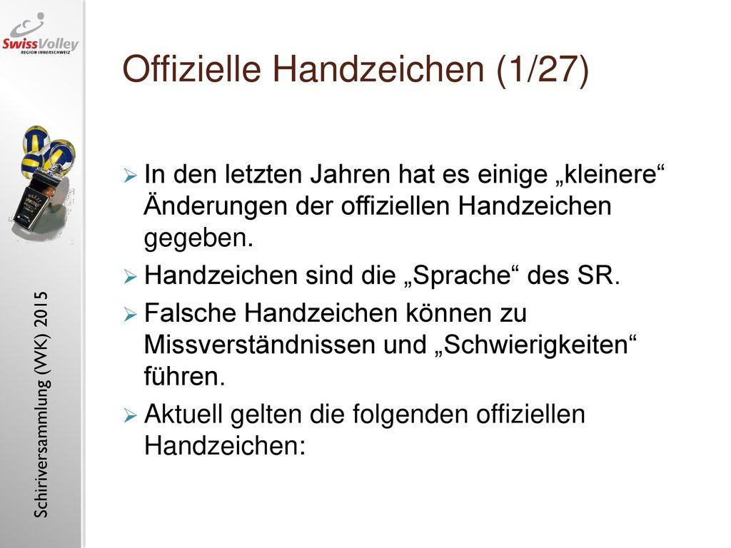 Offizielle Handzeichen (1/27)