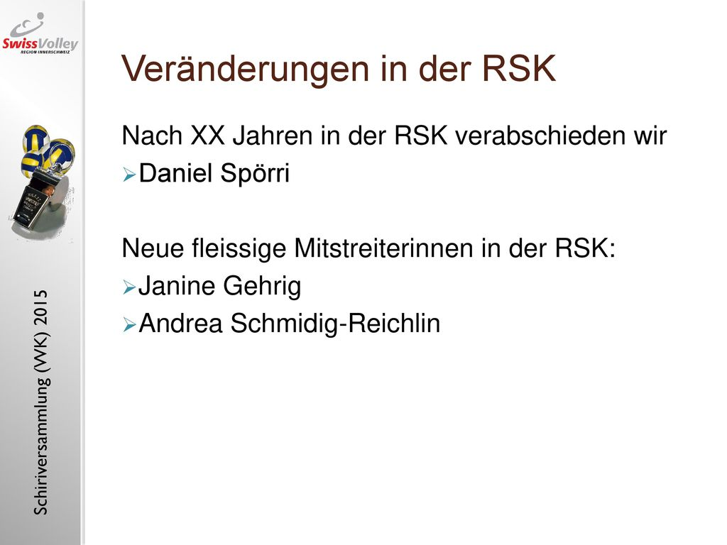 Veränderungen in der RSK