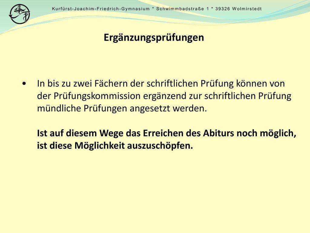Kurfürst-Joachim-Friedrich-Gymnasium. Schwimmbadstraße 1