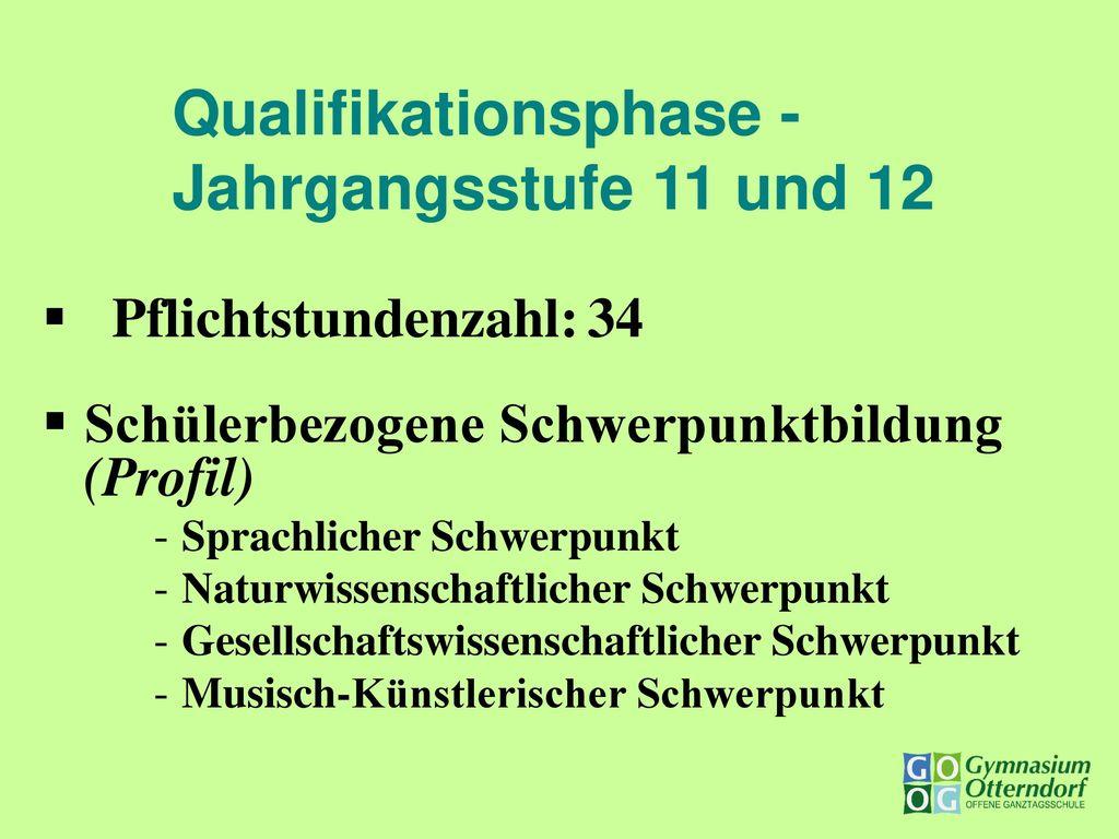 Qualifikationsphase - Jahrgangsstufe 11 und 12