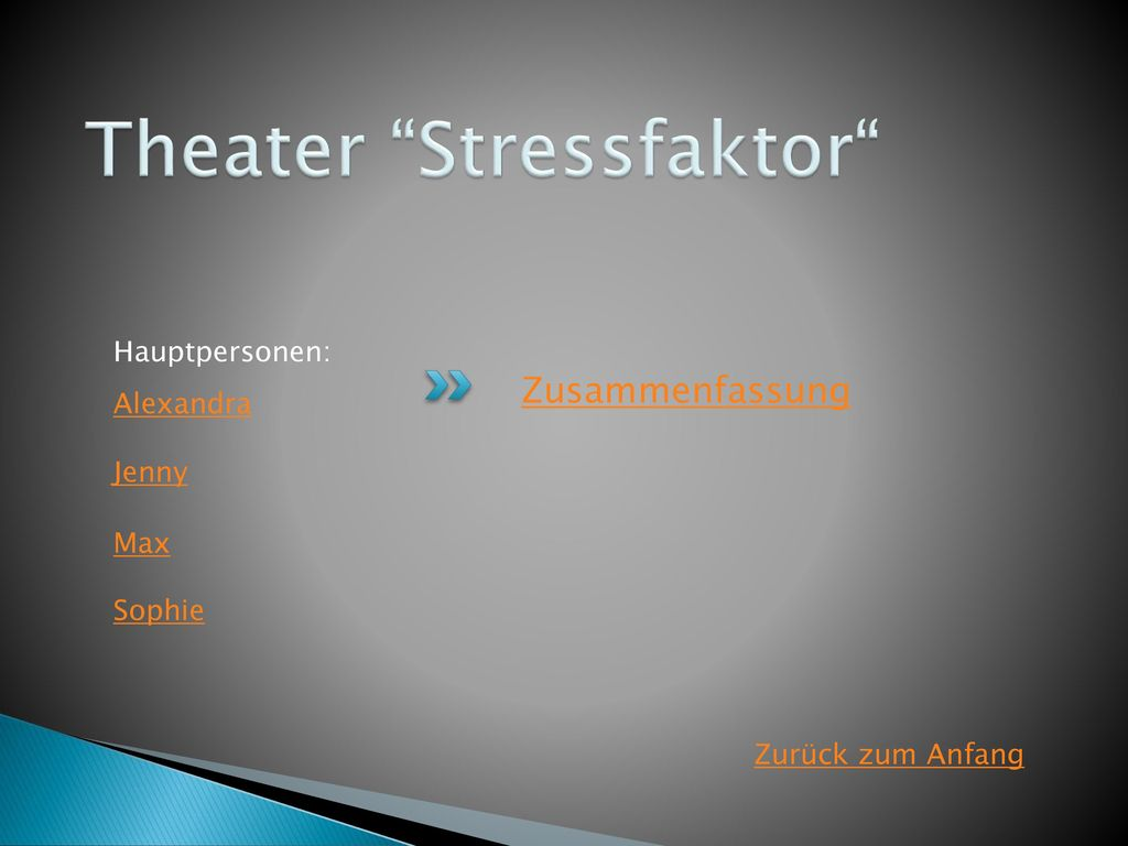 Theater Stressfaktor