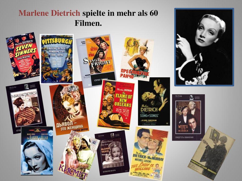 Marlene Dietrich spielte in mehr als 60 Filmen.