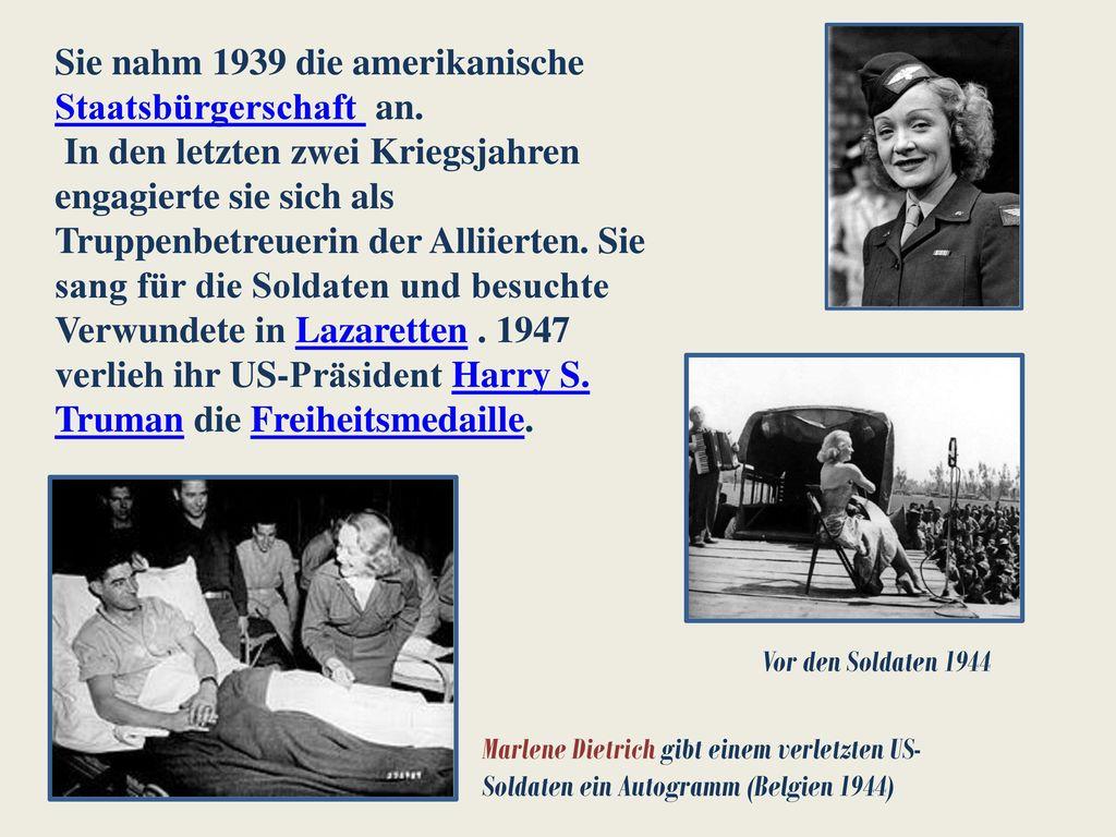 Sie nahm 1939 die amerikanische Staatsbürgerschaft an