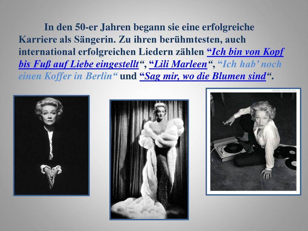In den 50-er Jahren begann sie eine erfolgreiche Karriere als Sängerin