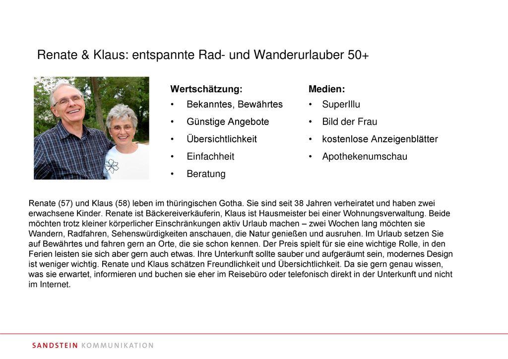 Renate & Klaus: entspannte Rad- und Wanderurlauber 50+