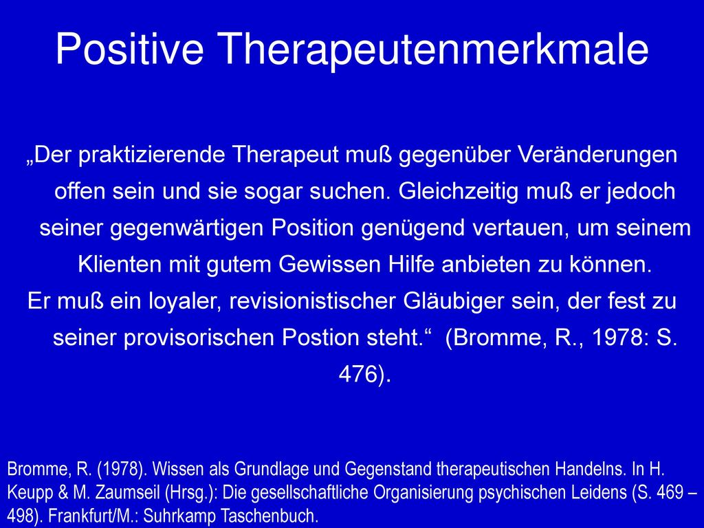 Positive Therapeutenmerkmale