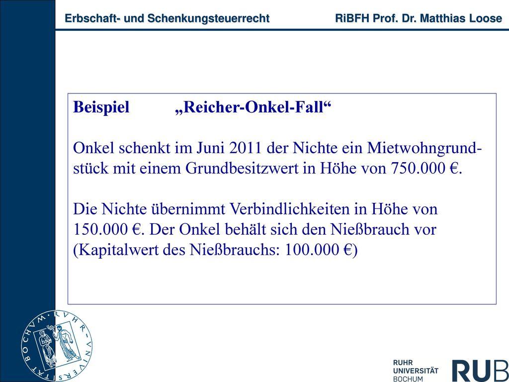"""Beispiel """"Reicher-Onkel-Fall"""