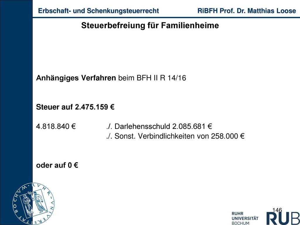 Steuerbefreiung für Familienheime