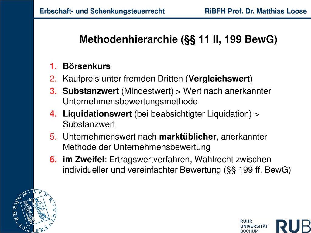 Methodenhierarchie (§§ 11 II, 199 BewG)