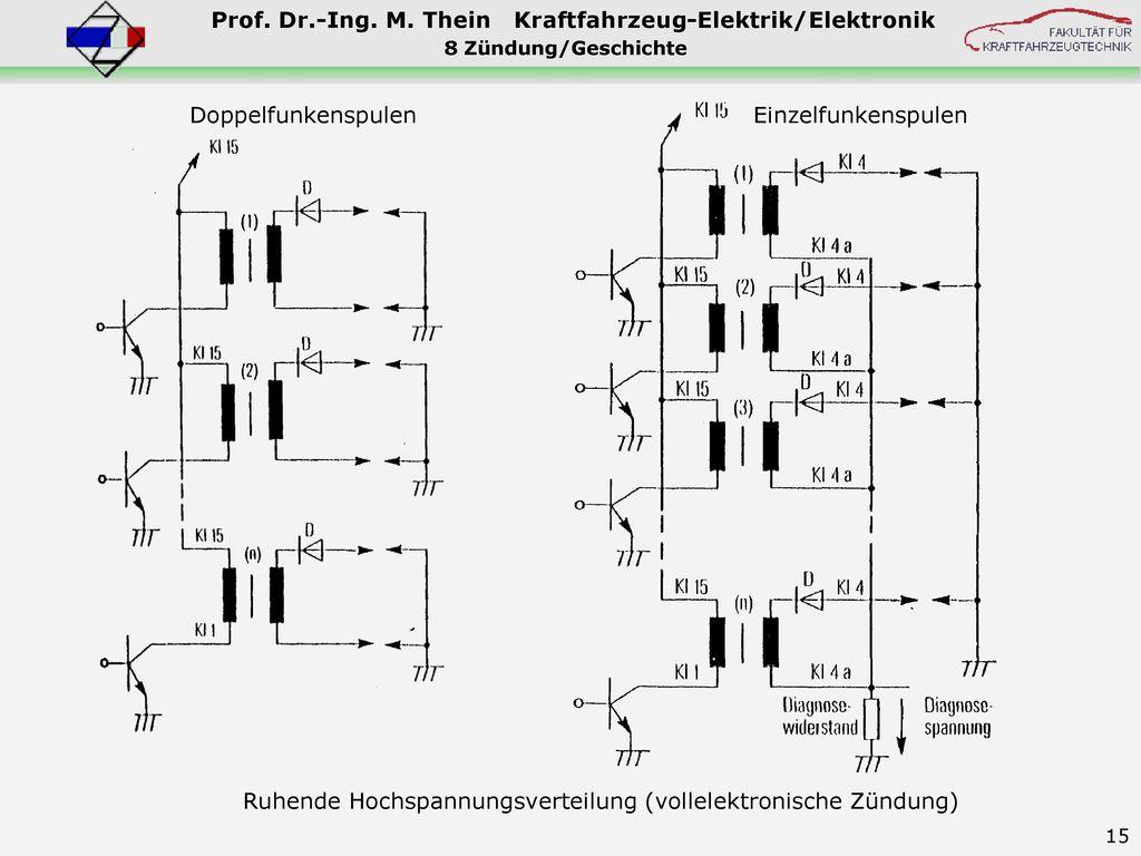Ruhende Hochspannungsverteilung (vollelektronische Zündung)