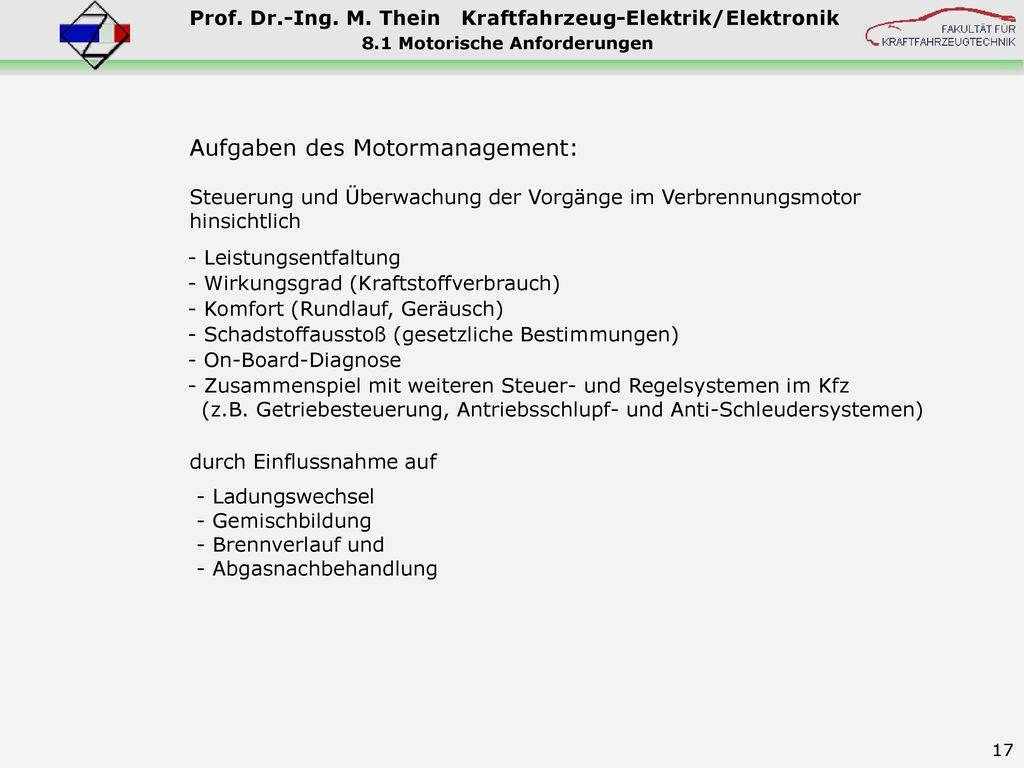 8.1 Motorische Anforderungen