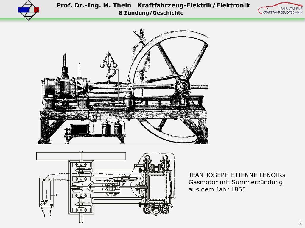 JEAN JOSEPH ETIENNE LENOIRs Gasmotor mit Summerzündung