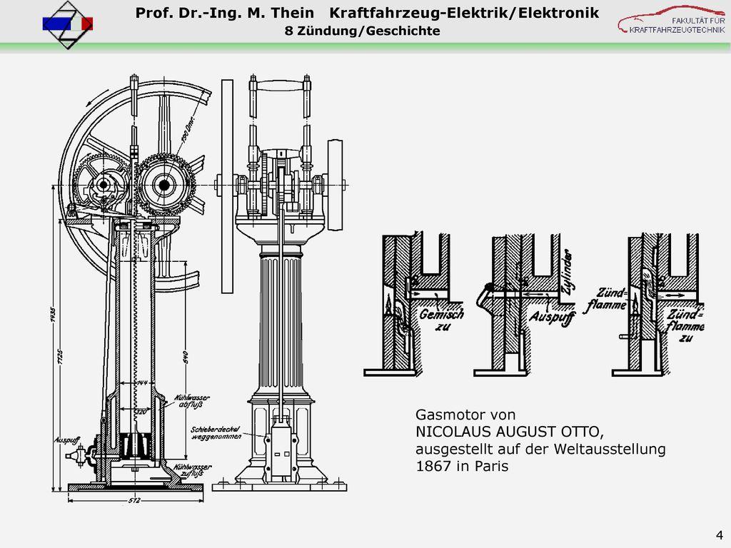 Gasmotor von NICOLAUS AUGUST OTTO, ausgestellt auf der Weltausstellung