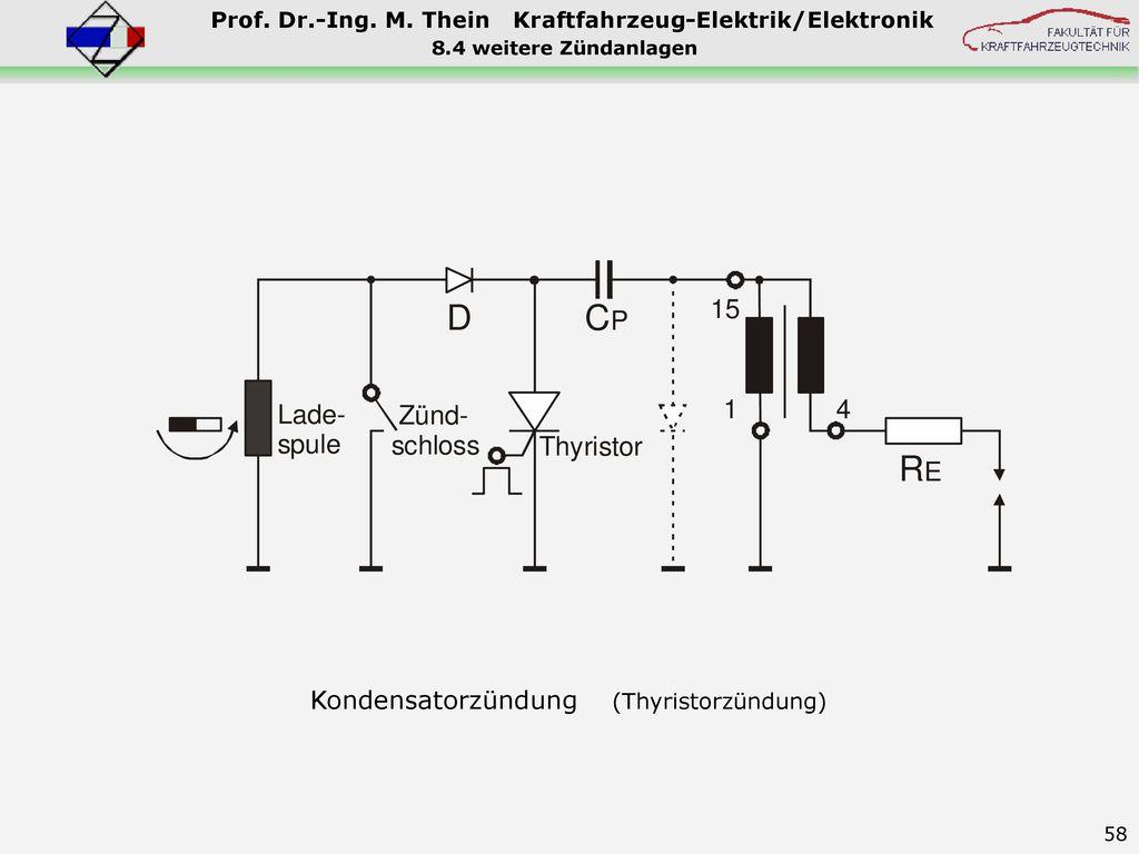 8.4 weitere Zündanlagen Kondensatorzündung (Thyristorzündung)