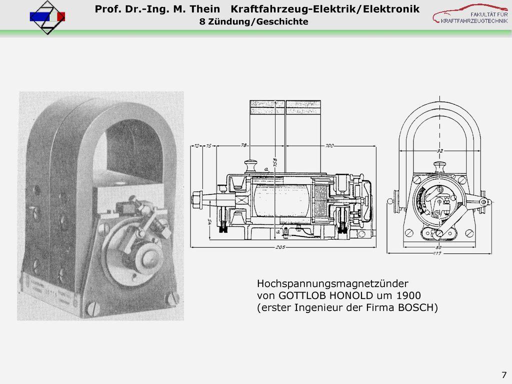 Hochspannungsmagnetzünder von GOTTLOB HONOLD um 1900