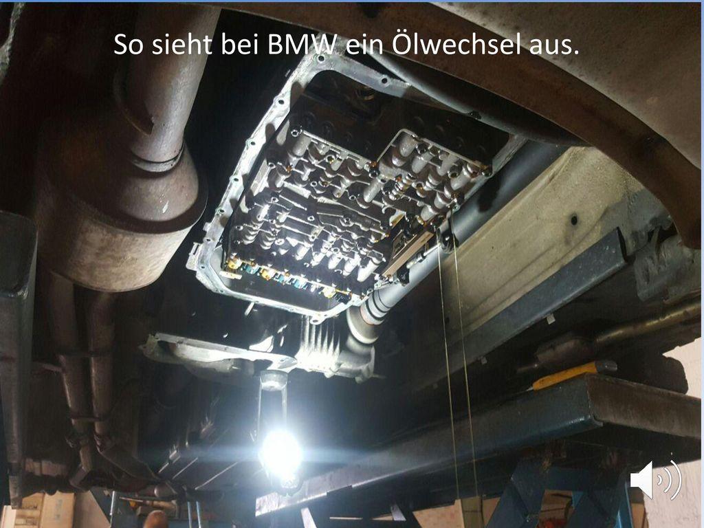 So sieht bei BMW ein Ölwechsel aus.