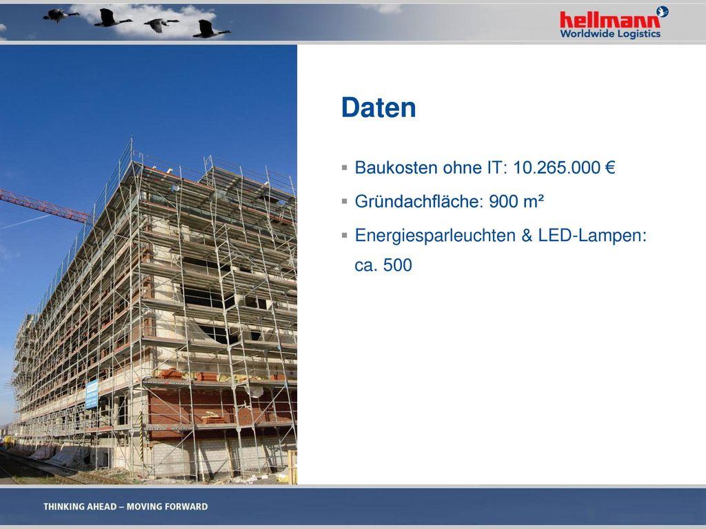 Daten Baukosten ohne IT: 10.265.000 € Gründachfläche: 900 m²