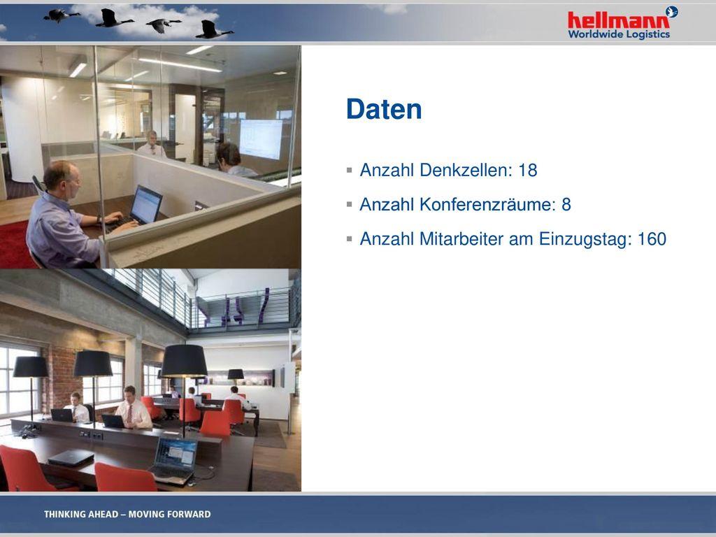 Daten Anzahl Denkzellen: 18 Anzahl Konferenzräume: 8