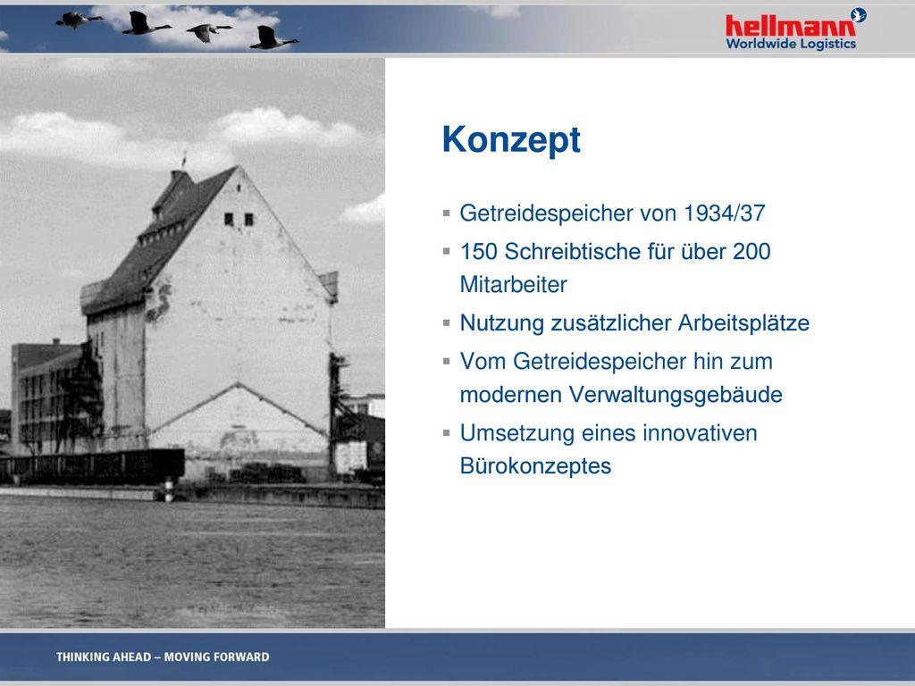 Konzept Getreidespeicher von 1934/37