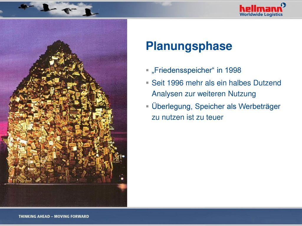 """Planungsphase """"Friedensspeicher in 1998"""