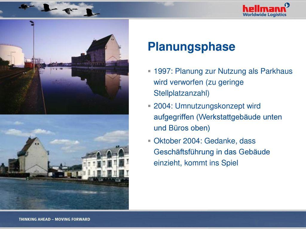 Planungsphase 1997: Planung zur Nutzung als Parkhaus wird verworfen (zu geringe Stellplatzanzahl)