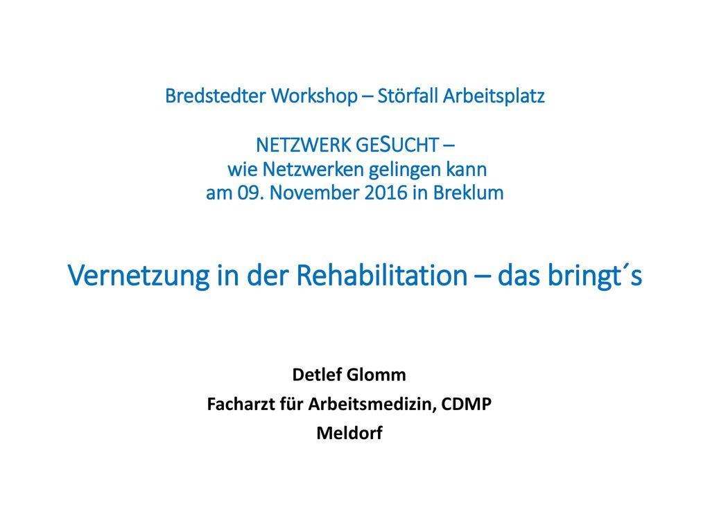 Detlef Glomm Facharzt für Arbeitsmedizin, CDMP Meldorf