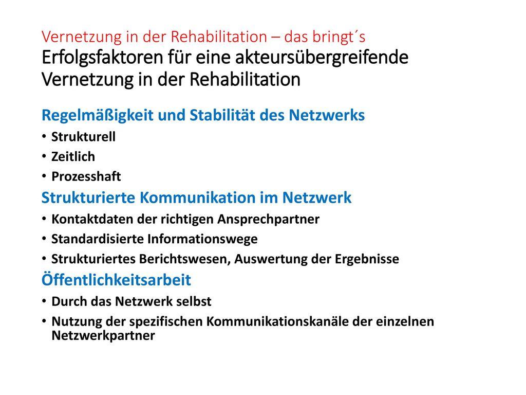 Regelmäßigkeit und Stabilität des Netzwerks