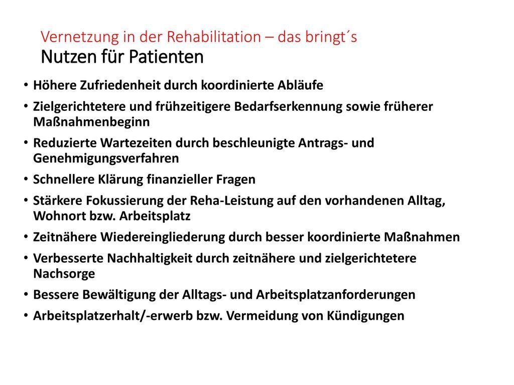 Vernetzung in der Rehabilitation – das bringt´s Nutzen für Patienten