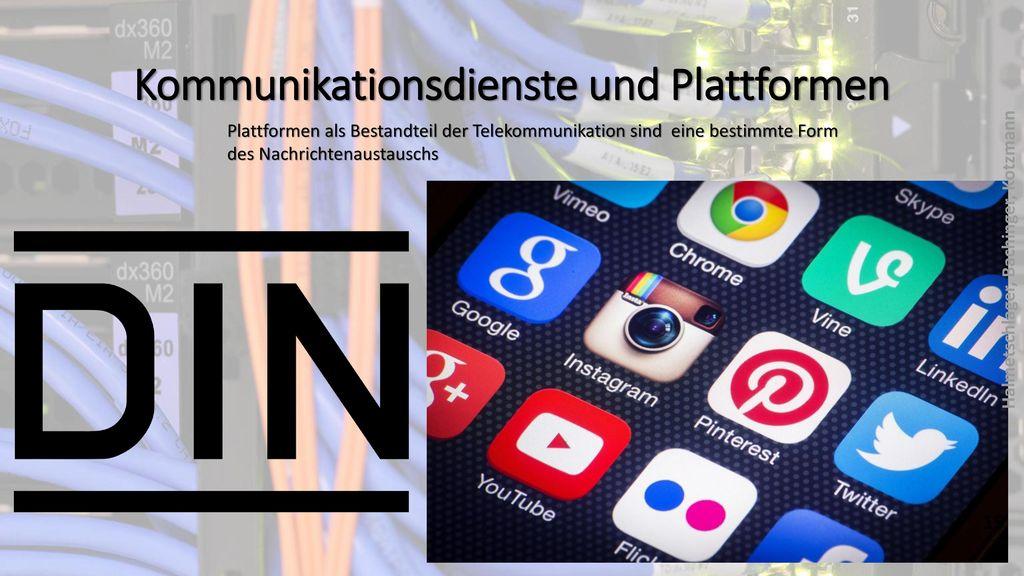 Kommunikationsdienste und Plattformen