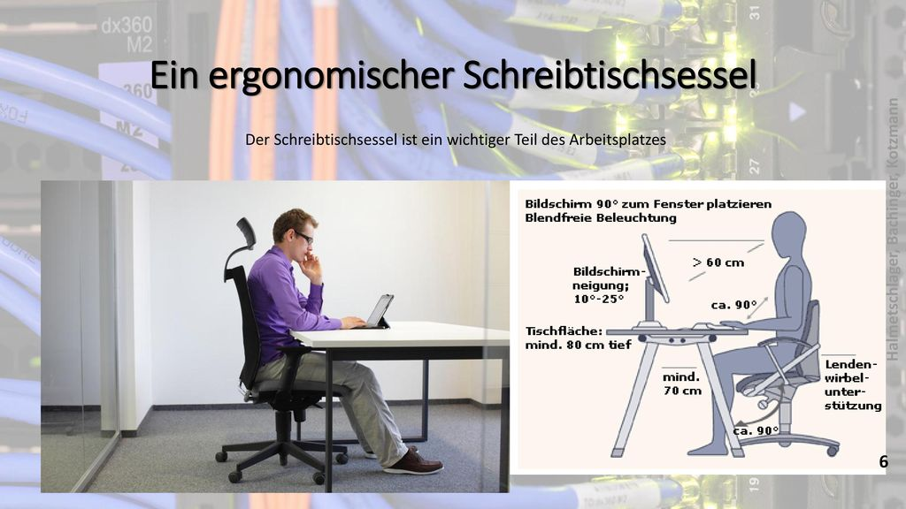 Ein ergonomischer Schreibtischsessel