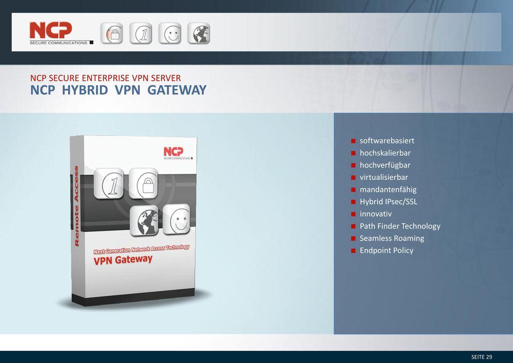 NCP Hybrid VPN Gateway NCP secure enterprise vpn server