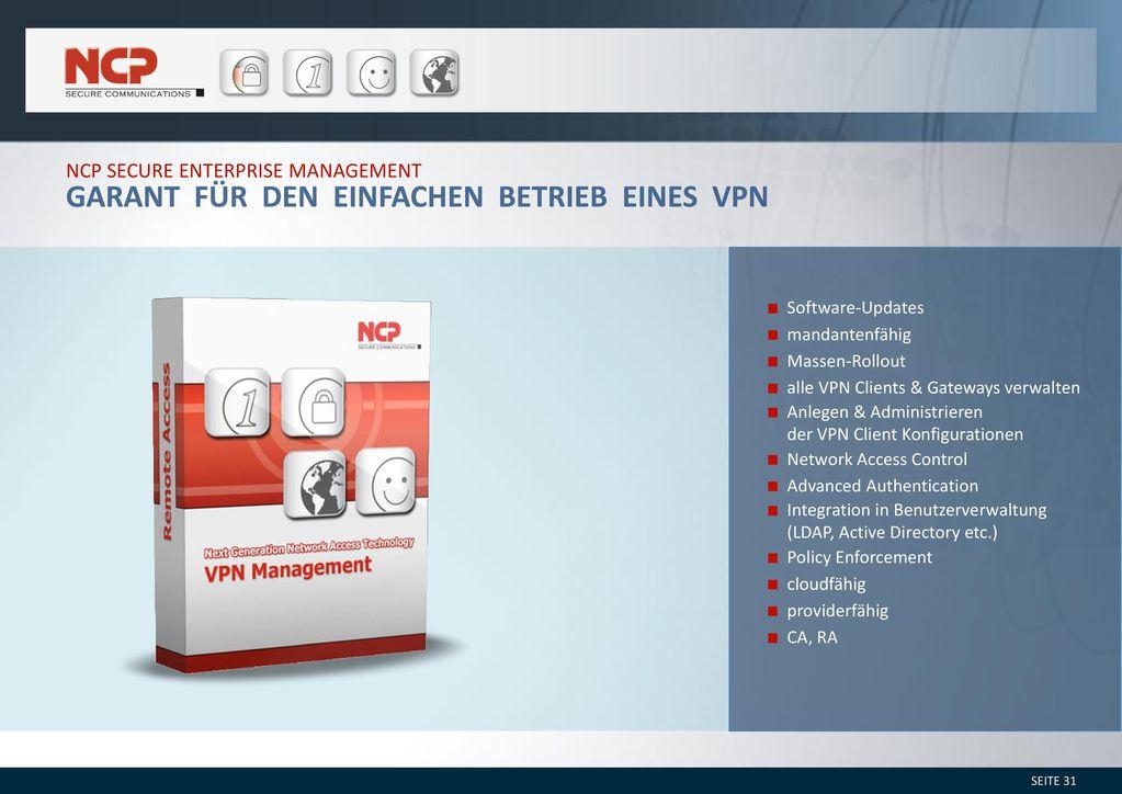 Garant für den einfachen Betrieb eines VPN