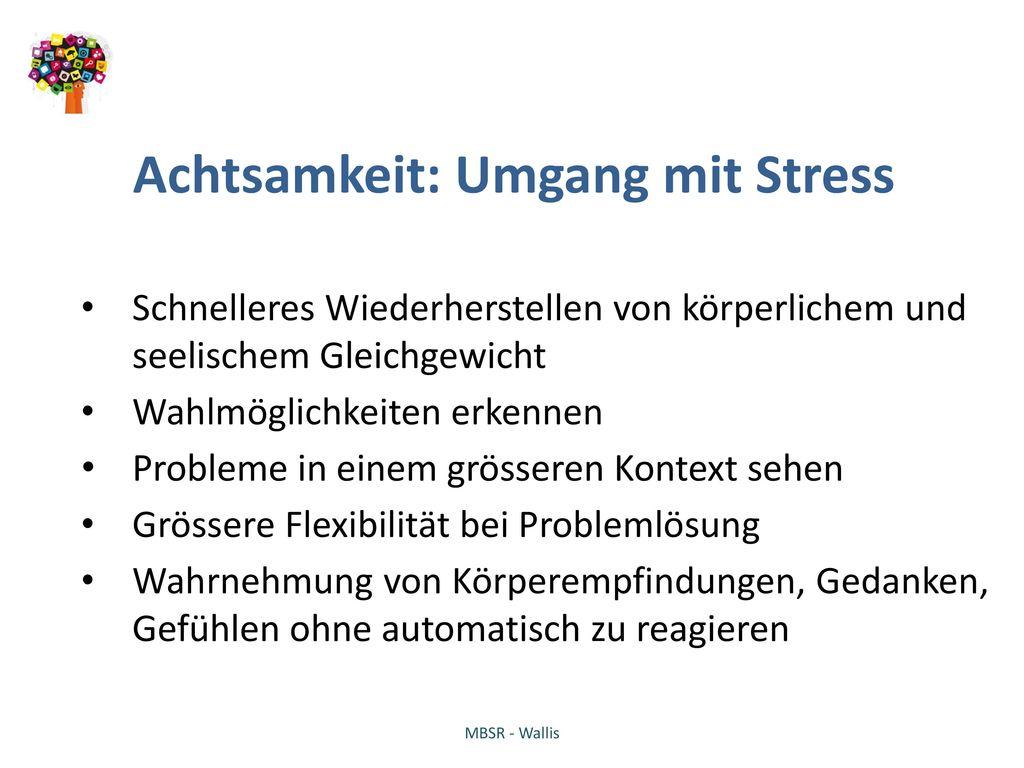 Achtsamkeit: Umgang mit Stress