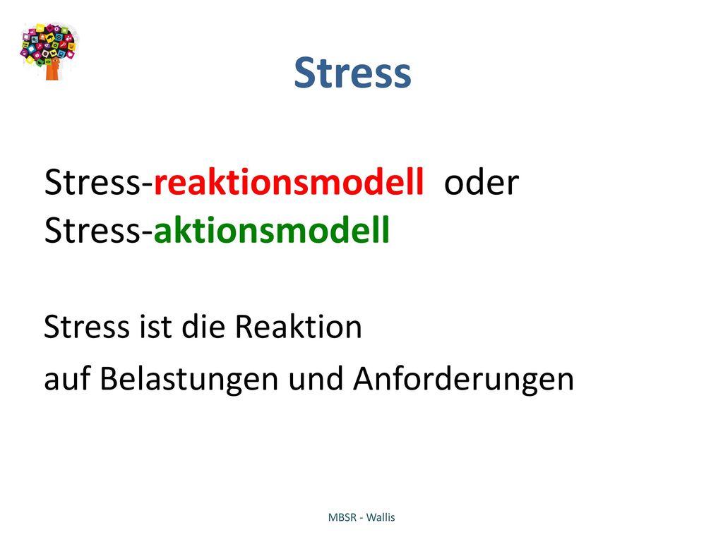 Stress Stress-reaktionsmodell oder Stress-aktionsmodell