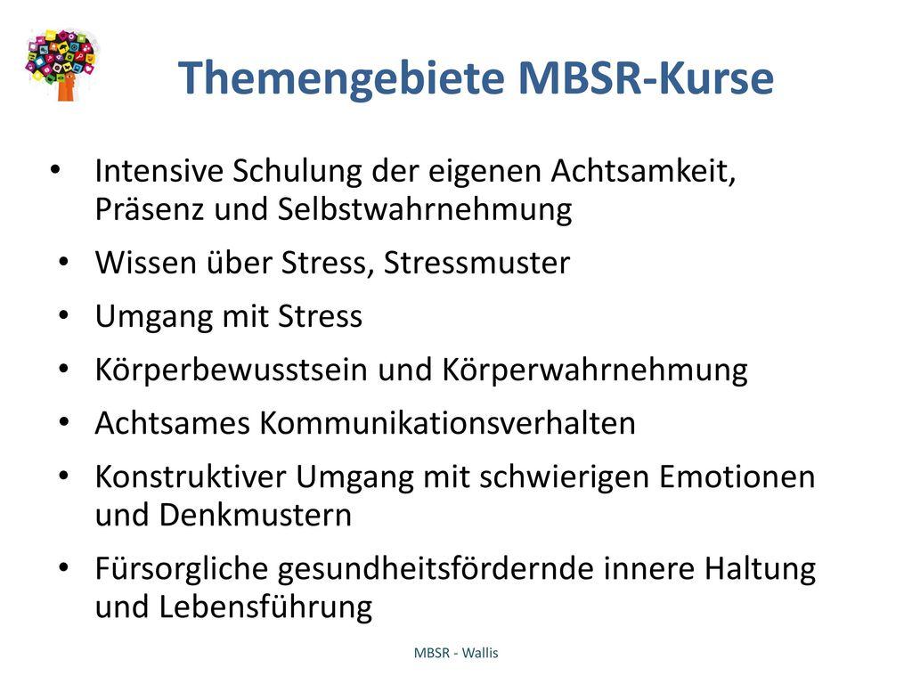 Themengebiete MBSR-Kurse