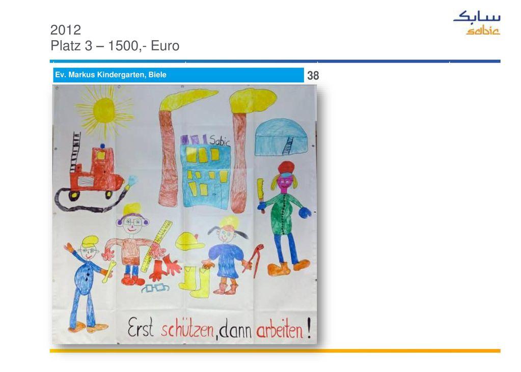 2012 Plätze 4 – 8 je 900,- Euro KiTa Mühlenstrasse GGS Im Brömm
