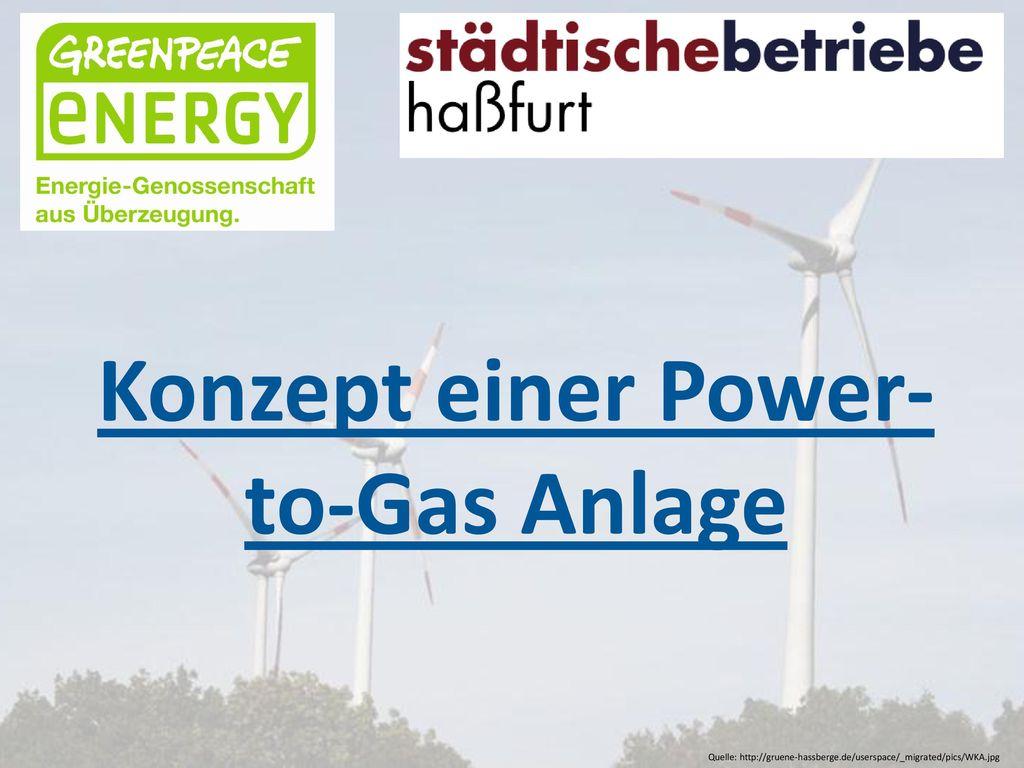 Konzept einer Power-to-Gas Anlage