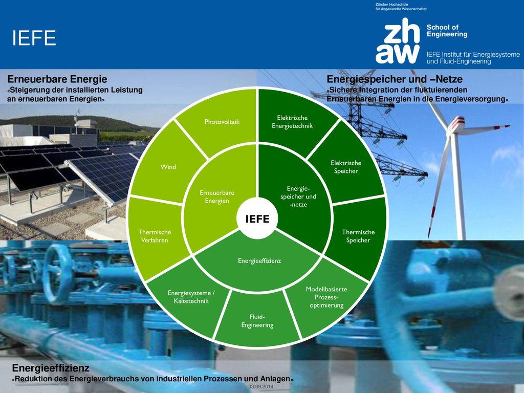IEFE Erneuerbare Energie Energiespeicher und –Netze Energieeffizienz