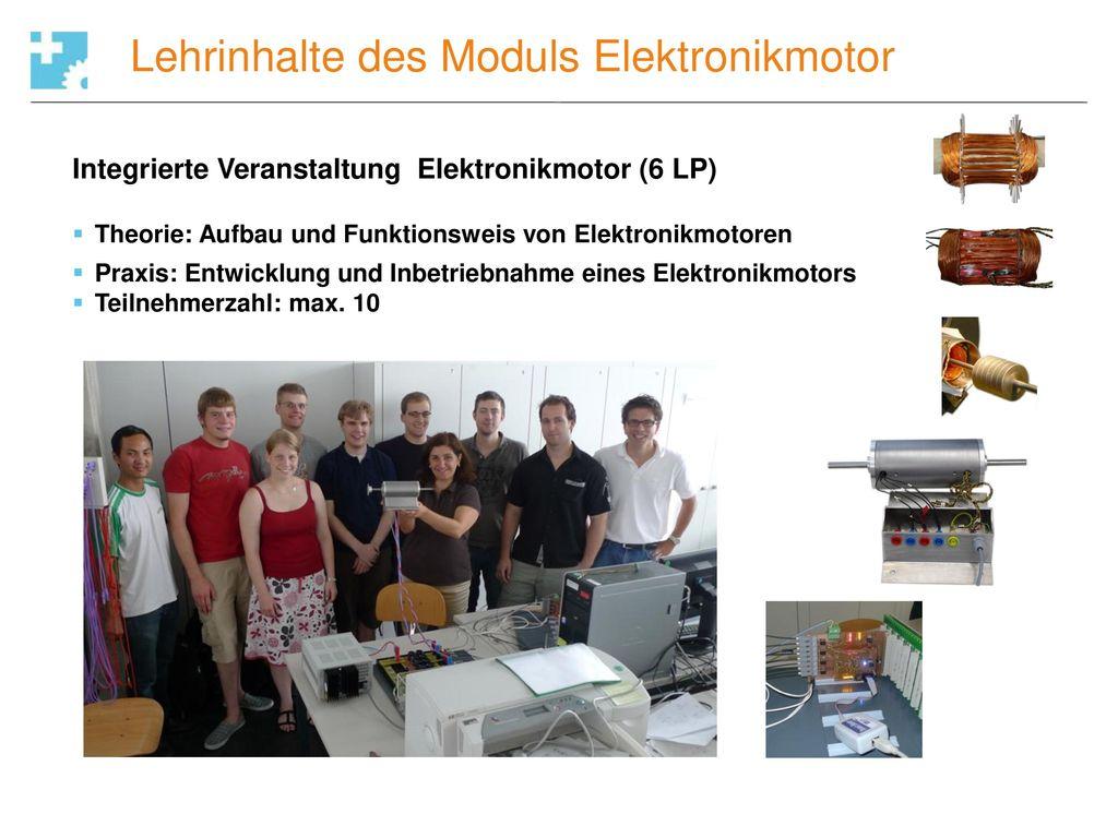 Lehrinhalte des Moduls Elektronikmotor