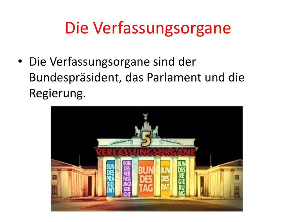 Die Verfassungsorgane