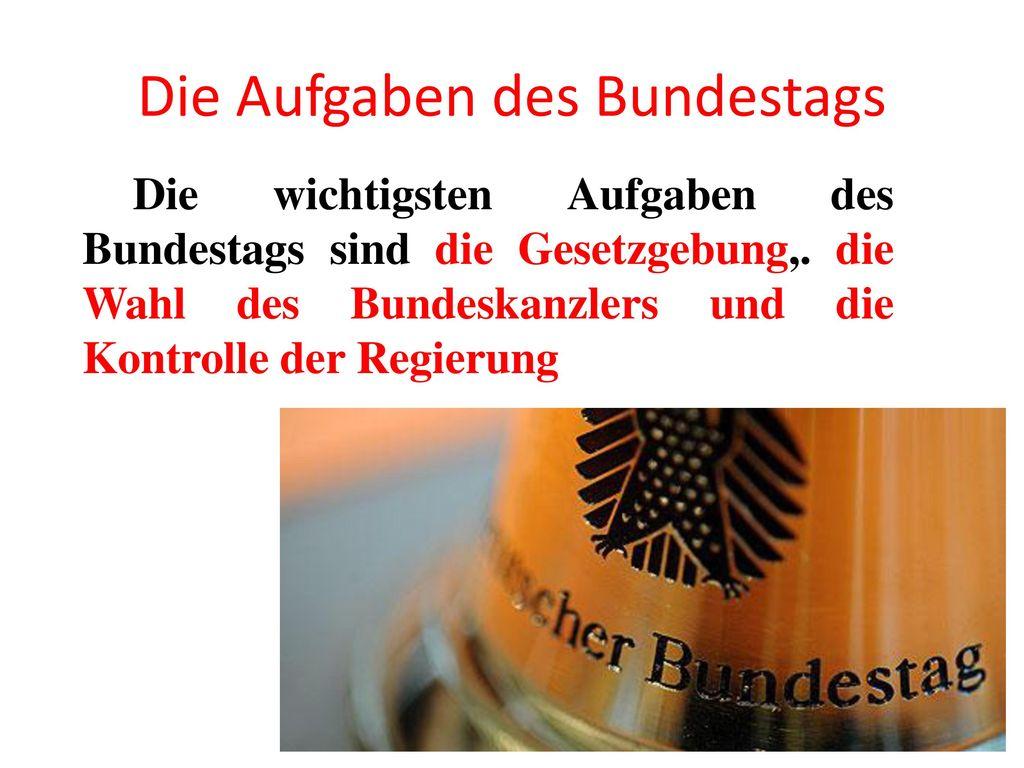 Die Aufgaben des Bundestags