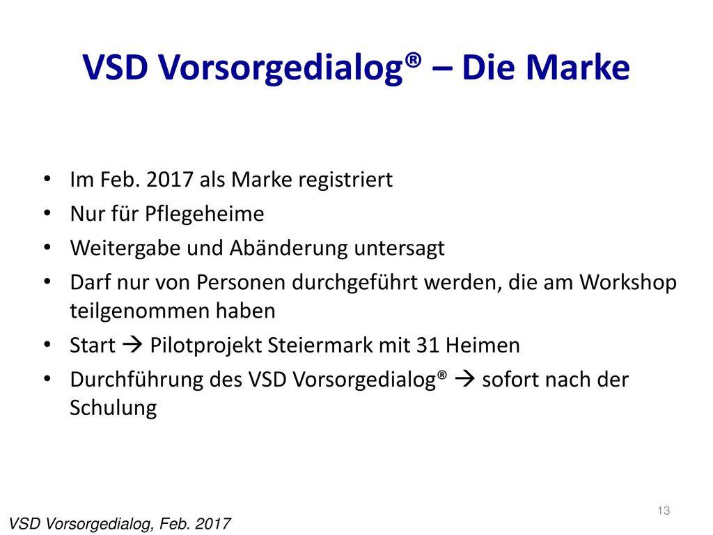 VSD Vorsorgedialog® – Die Marke