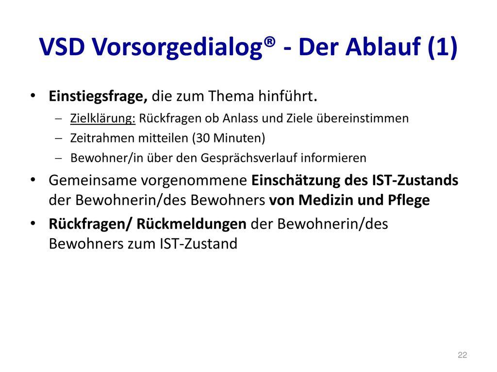 VSD Vorsorgedialog® - Der Ablauf (1)