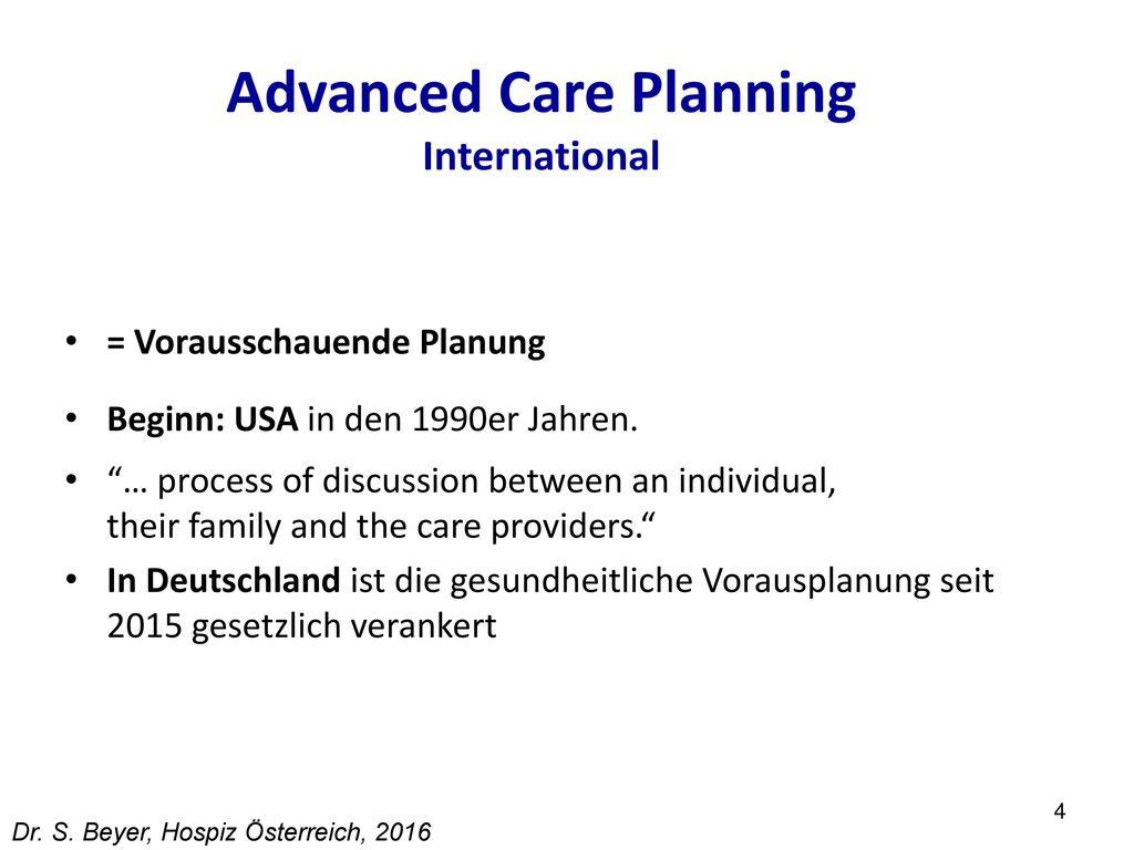 Advanced Care Planning International