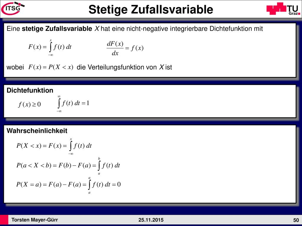 Stetige Zufallsvariable
