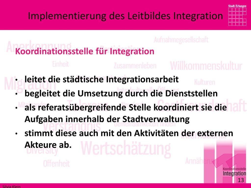 Implementierung des Leitbildes Integration