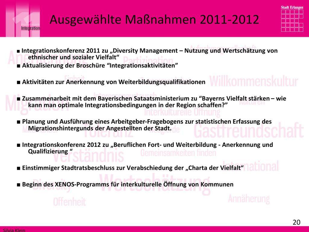 Ausgewählte Maßnahmen 2011-2012