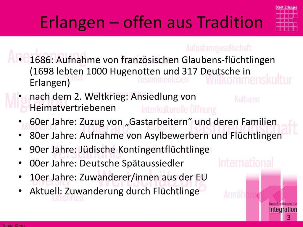 Erlangen – offen aus Tradition